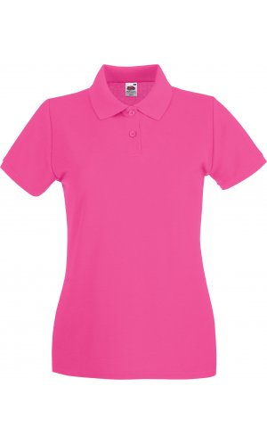 Lady-Fit Premium Polo [Fuchsia, M]