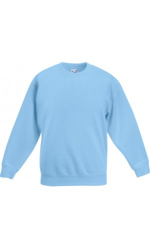 Kids Premium Set-In Sweat [Pastellblau, 104]