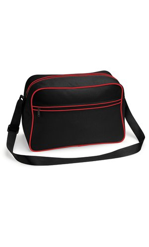 Retro Shoulder Bag [Black Classic Red, One Size]