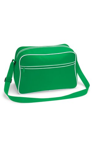Retro Shoulder Bag [Pure Green White, One Size]
