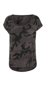Ladies` Camo Tee [Dark Camo, XL]