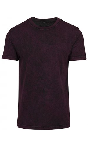 Acid Washed Tee [Berry Black, S]