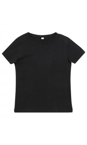 Girls Short Sleeve Tee [Black, 110/116]