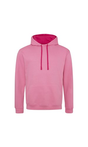 Varsity Hoodie [Candyfloss Pink / Hot Pink, S]