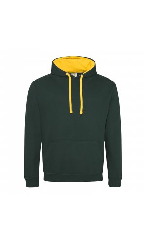 Varsity Hoodie [Forest Green / Gold, S]