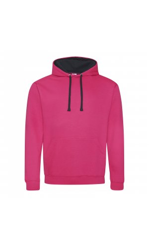 Varsity Hoodie [Hot Pink / French Navy, XS]