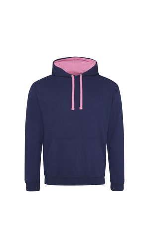 Varsity Hoodie [Oxford Navy / Candyfloss Pink, S]