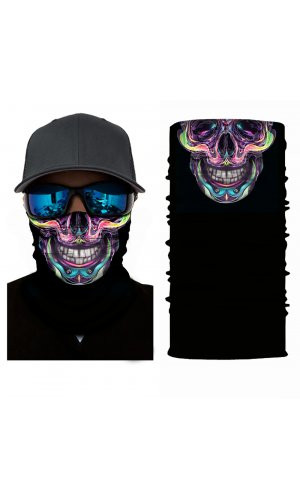Multifunktionstuch [Trippy Skull, One Size]
