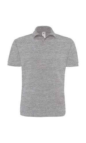 Polo Heavymill / Unisex [Heather Grey, S]