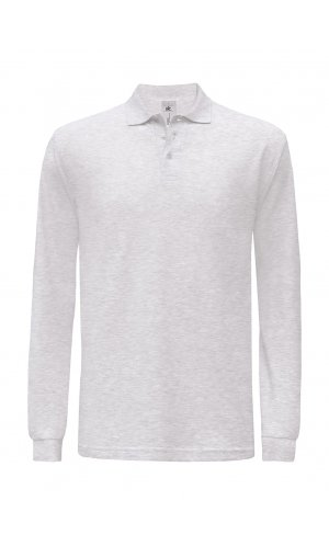 Polo Safran Longsleeve / Unisex [Ash (Heather), M]