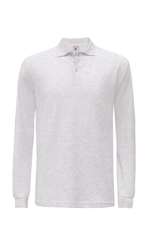 Polo Safran Longsleeve / Unisex [Ash (Heather), XL]