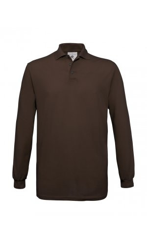 Polo Safran Longsleeve / Unisex [Brown, XL]