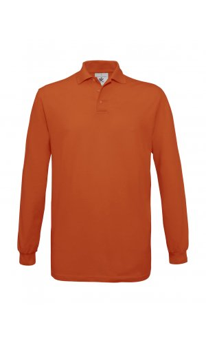 Polo Safran Longsleeve / Unisex [Pumpkin Orange, M]