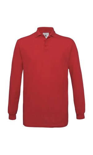Polo Safran Longsleeve / Unisex [Red, 2XL]